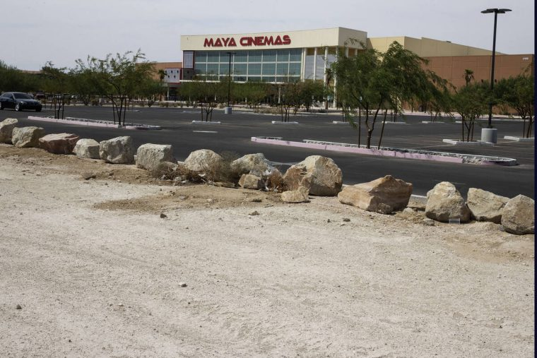 A vacant lot occupied by the sprawling property is seen in front of Maya Cinemas, on Tuesday, S ...