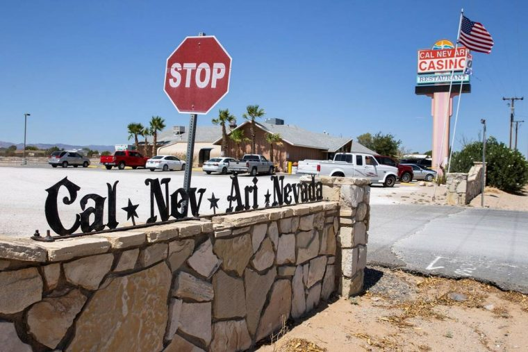 Cal-Nev-Ari casino-restaurant is shown in Cal-Nev-Ari, a town, off a lonely stretch of Highway ...