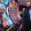 Sr. Director Core Product Roger Pettersson, gives a tour of new gaming technology at the IGT he ...